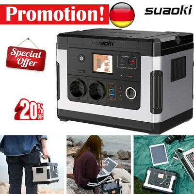 Suaoki G500 Portable Power Station Lithium 500Wh Rechargeable Solar Generato FR