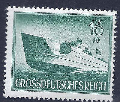 Nazi Germany Third Reich 1944 Nazi Navy Torpedo boat 16+10 stamp MNH WW2 Era