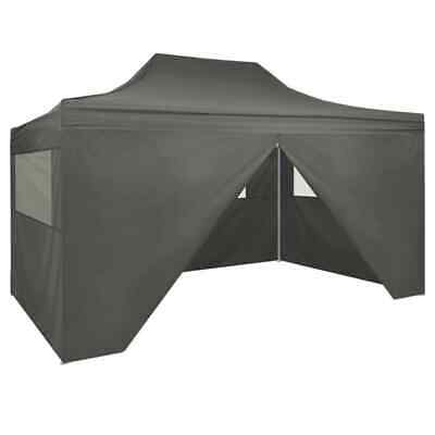 vidaXL Foldable Tent Pop-Up with 4 Side Walls 3x4.5m Anthracite Canopy Marquee
