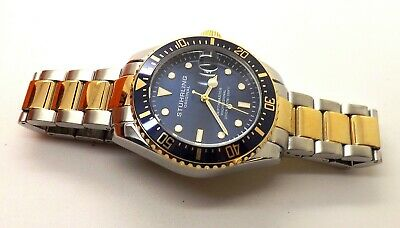 Stuhrling Men's Swiss Automatic 883.02 DEPTHMASTER Professional Dive Watch BLUE