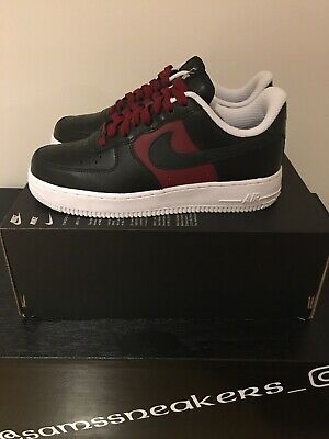 half off aeed4 d36d2 Nike Air Force 1 ID Black red Burgundy trainers size UK 5.5 New 1 sur 6Seulement  ...
