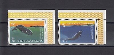 Timbre Stamp 2  Ile Turks & Caicos Y&t#633-34 Baleine Neuf**/mnh-Mint 1983  ~A78