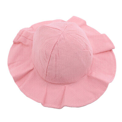 Wide Brim Kids Girls Sun Hat Cotton Kids Hats Summer Beach Hat Travel Cap S 9844feeb4bd7