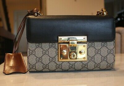 48c04935e77 GUCCI GG Supreme Padlock Small Leather Shoulder Bag with very good  condition.