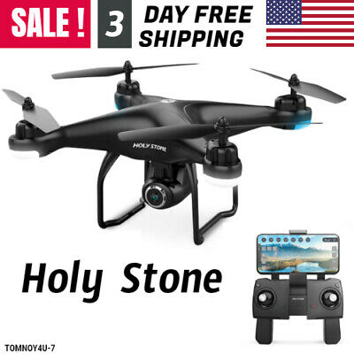 RC Drone HS120D FPV Camera 1080p HD and GPS Return Home Helicopter for Kids Gift