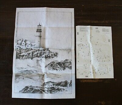 Vintage Retro HOBBYTEX LIGHTHOUSE PICTURE/DESIGN with Instructions UNUSED 8159