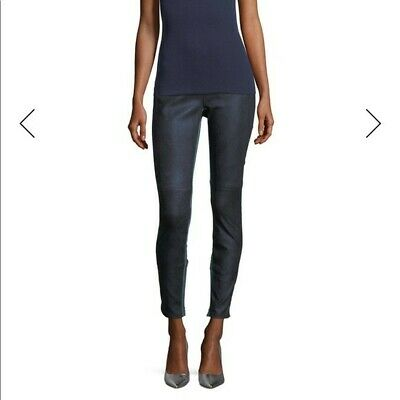NWT Elie Tahari Roxanna Skinny Denim-Effect Leather Pants, Size XL,  $998 VALUE!