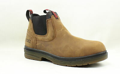 9f1d0acfd18 NEW MENS ROCKY Elements Shale Waterproof Romeo Workboot Brown Sz 9 ...