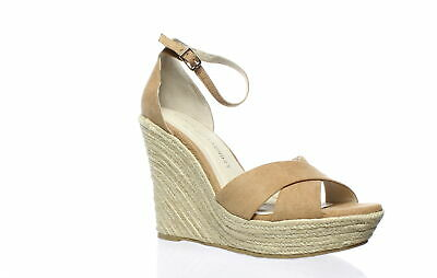 5dd30516ef9 Chinese Laundry Womens Morgan Camel Suede Ankle Strap Heels Size 7.5  (175771)