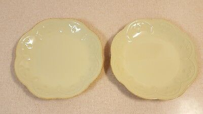 """Lenox French Perle Pistachio 9"""" Luncheon Salad Plates Set Of 2 (Two)"""