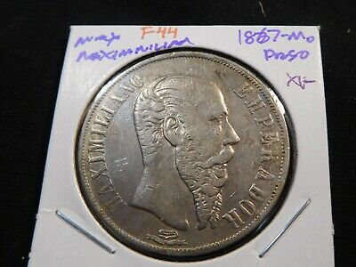 F44 Mexico Empire of Maximilian 1867-Mo Peso XF
