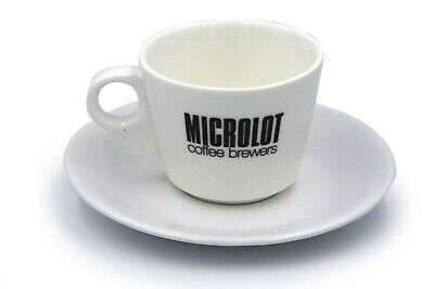 Cappuccino, Latte, Flat White coffee Cup and Saucer (Set of 2). 8oz. Porcelain.