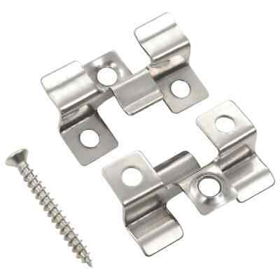 vidaXL 100x Decking Clips with 200 Screws Stainless Steel Board Accessory