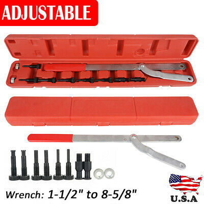 Universal Camshaft Pulley Fan Clutch Removal Holder Set Interchangeable Pin Kit