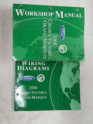 2008 ford crown vic & mercury grand marquis shop repair service manual set  oem