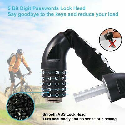 Blusmart Bike Lock Anti-theft Bicycle Cycle Chain Lock Combination Number Code
