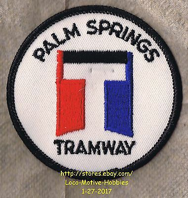 "Lmh Patch Badge Palm Springs Vue Aérienne Tramway Rotatif Tram Ancienne "" T """