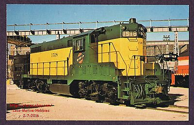 Lmh Cartolina 1972 Chicago Northwestern Demonstrator EMD 100 Cnw Cn&w Gp7 1518