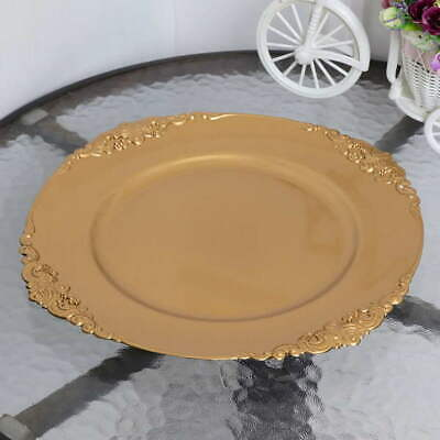 24 x Gold Vintage Charger Plate 33cm French Style