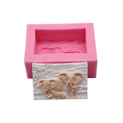 3D Elephant Fondant Cake Silicone Mold Soap Chocolate Mould Baking Tools Z