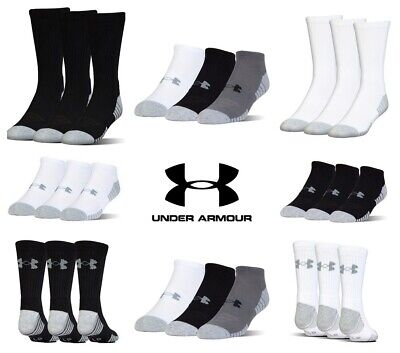Under Armour 3 Pair Crew Ankle No Show Socks Golf Sports Heatgear Tech 2019