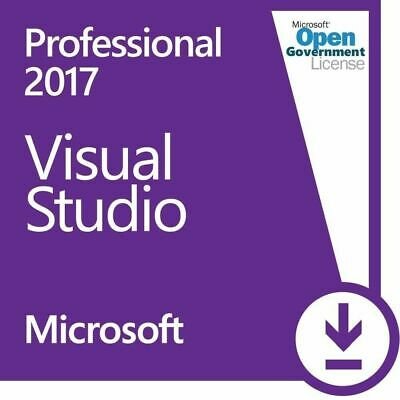 Visual Studio 2017 Professional - Unlimited PC's ⭐Lifetime License⭐