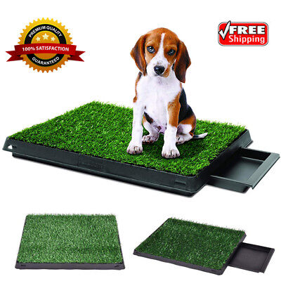 Pet Puppy Training Pad Grass Potty Toilet Patch Mat Indoor Dog Pee Poo Turf Tray