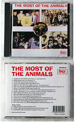 ANIMALS Most Of The Animals .. 19 Track Australian Raven CD TOP