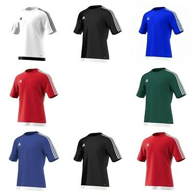 Adidas Boys Estro Football T Shirts Kids Sports Training PE Top