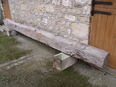 Very Large Heavy Old Rustic Reclaimed Support wooden Beam Timber 14 foot  Leeds