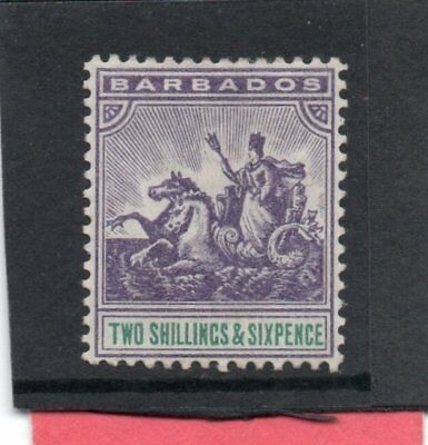 Barbados Vic. 1892-03 2/6 violet & green sg 115 H.Mint