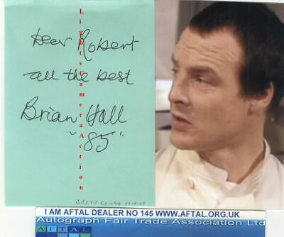 Brian Hall vintage signed album page, Fawlty Towers AFTAL#145