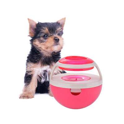 Pet Food Ball Fun Interactive Treat Dispensing Tpy For Dog Feeder Red PS338