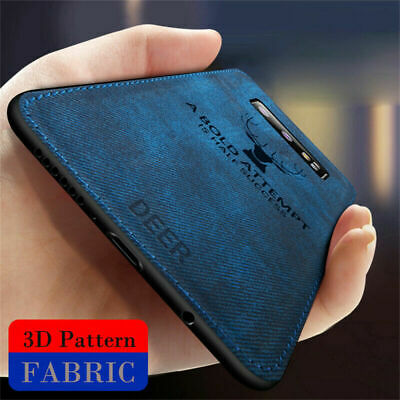 For Samsung S10 Plus S9 Patterned Hybrid TPU Leather Case Soft Shockproof Cover