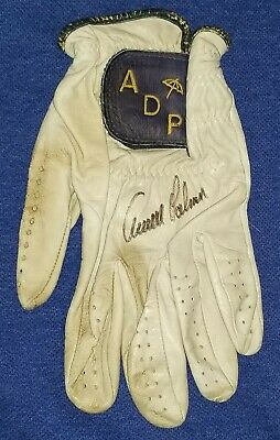 05767bf6cdd153 ARNOLD PALMER Signed Personal Tournament Game USED WORN ADP Golf Glove Auto  JSA