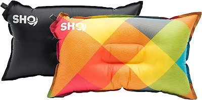 SHO YOUR Pillow Ultimate Self Inflating Camping Pillow, Travel Air...