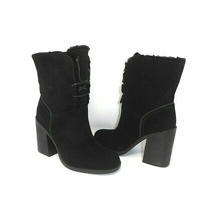 9888831284a UGG AUSTRALIA JERENE Wool Lined Lace Up Boots BLACK sizes 1018674 ...
