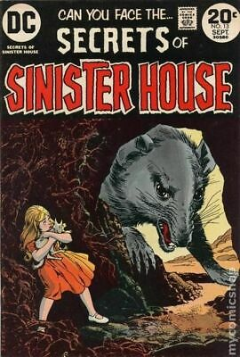 Secrets of Sinister House #13 1973 VG+ 4.5 Stock Image Low Grade