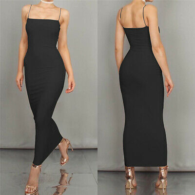 Spaghetti Strap Backless Off Shoulder Strapless Autumn Maxi Bodycon Women S