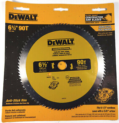 "DEWALT 6.5"" 90 Tooth Paneling And Vinyl Cutting Saw Blade, 5/8"" Arbor (DW9153)"