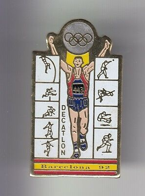 Rare Pins Pin's .. Olympique Olympic Barcelone Barcelona 1992 Decathlon  ~18
