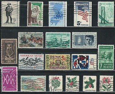 US year of 1964 Commemorative stamps (used)