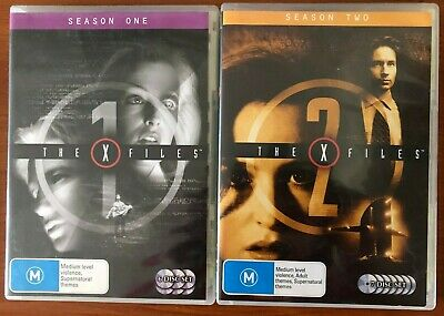 The X-Files : Season 1 & 2 (DVD, 6-Disc Set & 7 Disc Set)  - Used