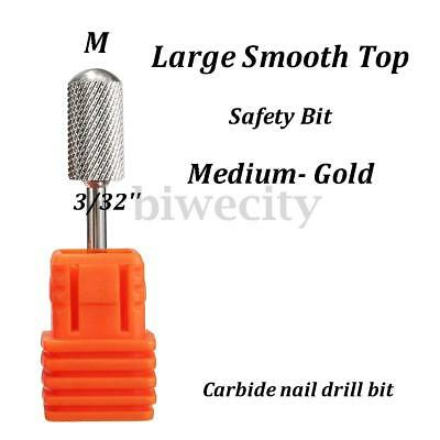3/32'' Nail Drill Bit. Safety Edge SMOOTH Top Silver Carbide MEDIUM Freepost Aus