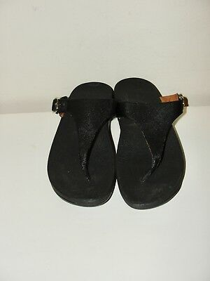 9054991083584e Fitflop  nice!!the Skinny Delux Imi Leather Toe Thong Black Sandals 458-