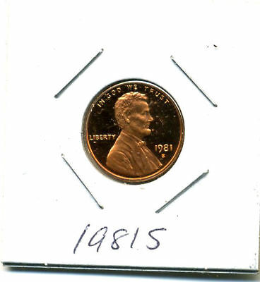 1981S Bu Proof Lincoln Memorial 1 Cent Brilliant Uncirculated Penn Pf Coin#3085