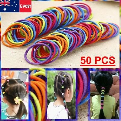 50 PCS Cute Kids Girl girls Elastic Tiny Hair Tie Band Rope Ring Ponytail Holder