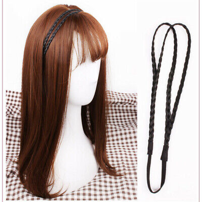 Fashion Women Girls Suede Woven Hair Band Double Braided Headband Accessories Z