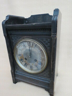 Antique Ebonised French Aesthetic Clock For Restoration