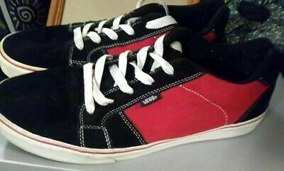 f4e5b258a7 Mens Vans tennis shoes Black Suede w Red Size 11 Skateboard style Classic  GUC